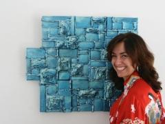 Constructivo azul con Cristina
