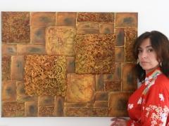 Constructivo dorado con Cristina